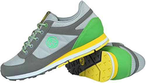 Paperplanes - 1312 Sport Uni Tracking Lace Up Sneakers GrayGreen