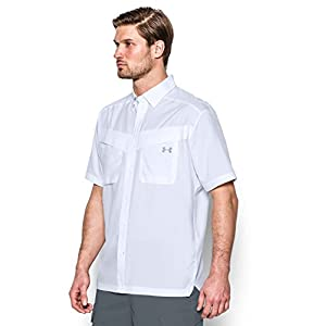 Under Armour Men's Tide Chaser Short Sleeve, White/Steel, Large