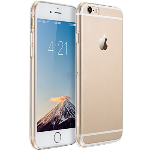 iPhone 6 Case, iPhone 6S Case, HeeBin [0.8mm Ultra Thin] Transparent Clear Soft Gel TPU Silicone Case Raised Bezels for Apple iPhone 6 / 6S Case