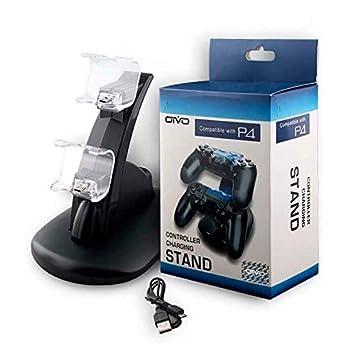 OIVO PS4 Cargador de Carga USB Dual Estación de Reproducción ...