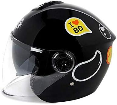 NJ ヘルメット- ABS子供用ヘルメット四季ダブルレンズ漫画ハーフヘルメット多色 (Color : F, Size : L27xH21cm)