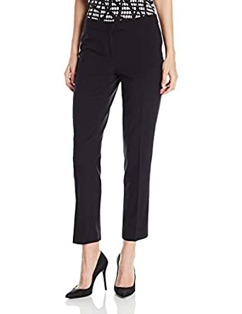 Anne Klein Women's Slim Leg Pant, Black, 2