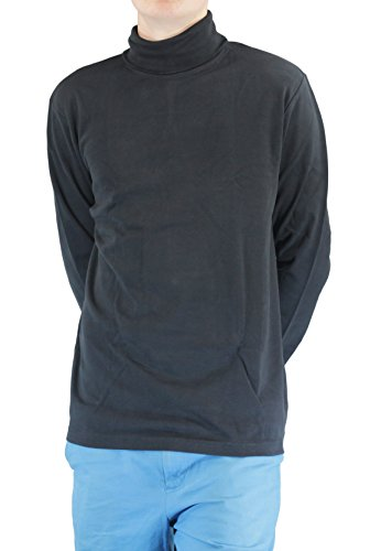 Cotton Interlock Turtleneck (Maks Black Men's 100% Combed Cotton Supersoft Relaxfit Casual Ski Turtleneck (X-Large))