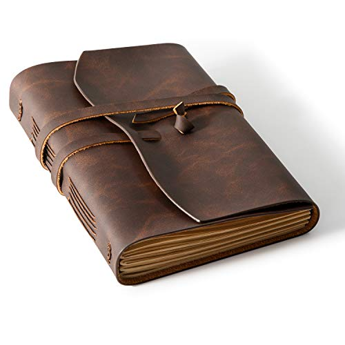 Leather bound journal lined
