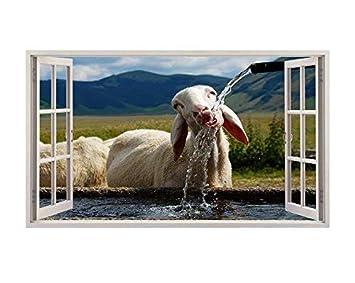 Tekkdesigns B043 Schaf Ziege Lamm Tiere Kinderzimmer Kinder Wand