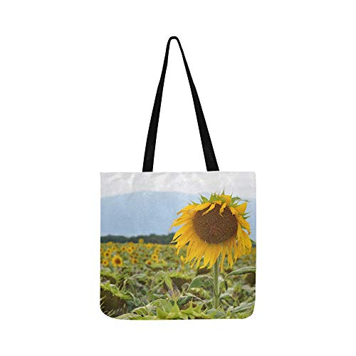 Sunflower Sunflower Field Laconnex Geneva Floral Canvas Tote Handbag Shoulder Bag Crossbody Bags Purses For Men And Women Shopping ()