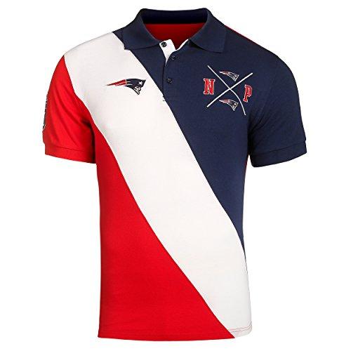 New England Patriots NFL Men's Diagonal Stripe Polo ()