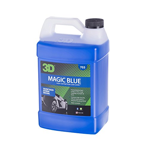 Magic Blue - Solvent Based Tire Dressing - 1 Gallon - California VOC Compliant - Made in USA | All Natural | No Harmful Chemicals
