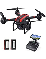 $79 » 1080P Drones with Camera for Adults and Kids, SANROCK Upgrade X105W HD FPV Drone for Beginners, 34 Mins Flight Time with 2 Batteries, Easy Control RC Quadcopter with Auto Hovering, Headless Mode
