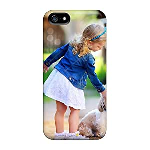 Phone Case Case Cover Iphone 5/5s Protective Case Girl And Dog
