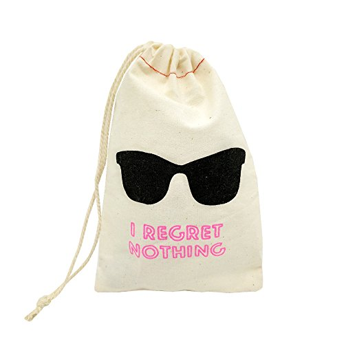 La Homein Sanrich 20pcs Eyeglass Pouch Bags With Drawstring 4x6 inch Hangover Kit Bags I Regret Nothing Bag by La Homein