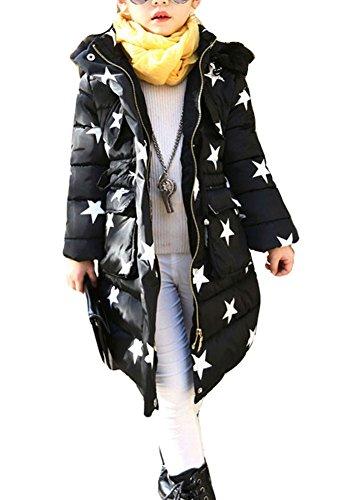 Oberbekleidung Parka Lang Wintermantel Mantel Tailliert Mädchen Winter Kinder Winterjacke Mileeo Mit Jacket Kunstpelz f7b6Yyg