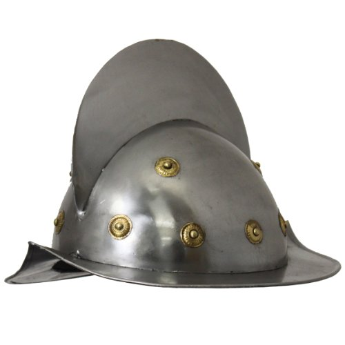 Urban Designs Imported Antique Replica 15th Century Spanish Conquistador Comb Morion Helmet, Silver]()