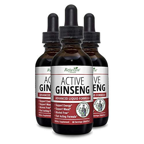 Active Ginseng – Real Red Ginseng All-Natural Liquid Solution for 2X Absorption Supports Healthy Energy, Vitality, Mood More