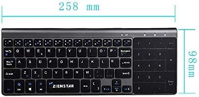Zienstar-2.4Ghz Mini Teclado Inalámbrico con Touchpad y Teclado Numérico, Receptor USB para Smart TV, Android TV Box, HTPC, IPTV, XBOX360, PS3, PC, etc- Español: Amazon.es: Electrónica