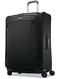 Lineate Softside Expandable Luggage with Spinner Wheels, Obsidian Black
