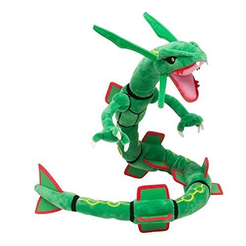 PS Products Children's Generic Mega Rayquaza Plush Toys Stuffed Doll with 31'' Badges Green by PS Products