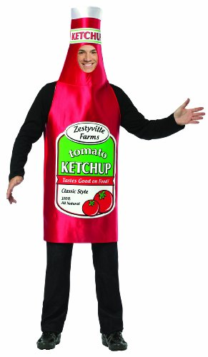 Ketchup Bottle Costume (Rasta Imposta Zestyville Ketchup, Red, One Size)