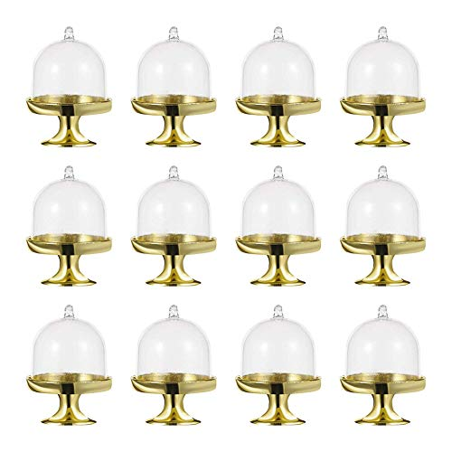 QILICHZ 12 Pack Mini Size Server Dome centerpieces Chocolate Gift Boxes for Bridal Shower Wedding Party Favors ()