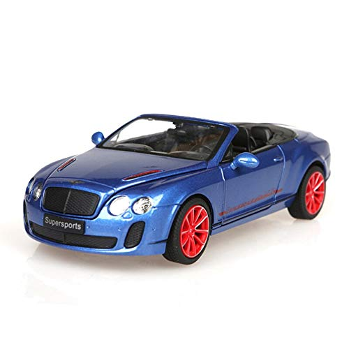 Lighting Bentley Bath - Kikioo Alloy Car Convertible Hardcover Version Toy Car 1/24 Sports Car Continental Model Simulation Car Flashing Light Dasher Drifting Stunt Vehicle Boy Gift Home Decoration Ornaments (Color : Blue)