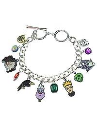 Disney 12 Charm Bracelet Jewelry Villains Maleficent Ursula