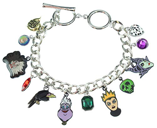 (Bioworld Disney 12 Charm Bracelet Jewelry Villains Maleficent)