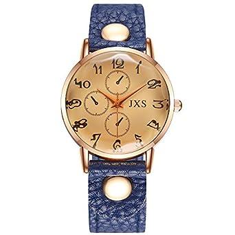 Reloj Mujer Niña Reloj Cuarzo Gama Alta Azul Vintage ...