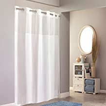 Hookless RBH40MY831 Fabric Shower Curtain with Snap in PEVA Liner - White