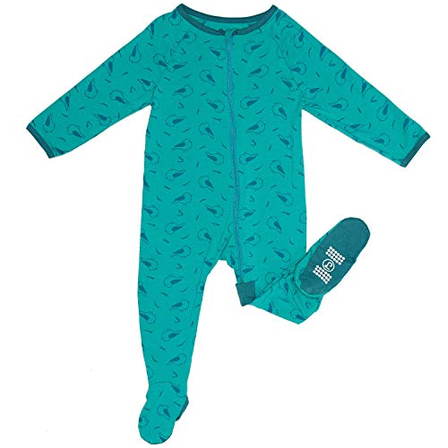 Zip Sleeper Baby Onesie for Boy or Girl, Premium Bamboo No Slip Footie Pajamas -