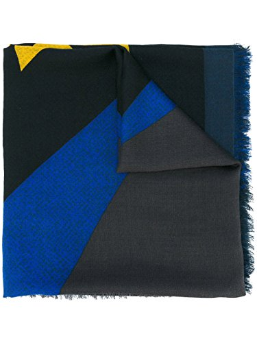 Fendi Men's FXS2966X7F0748 Multicolor Silk Scarf