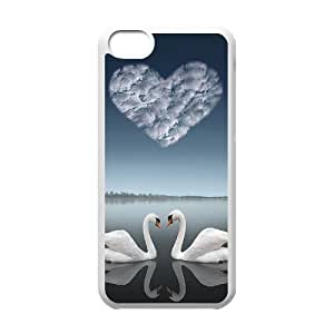 GGMMXO Swan Shell Phone Case For Iphone 5C [Pattern-1]