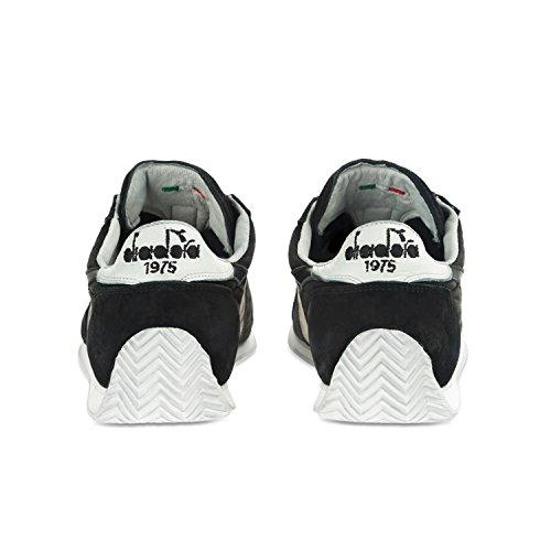 Diadora Unisex-Erwachsene Equipe Stone Wash 12 Sneaker, Blu + Bianco C0200 - SCHWARZ-WEISS