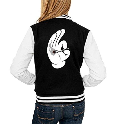 Dope Hands Blunt College Vest Girls Black Certified Freak