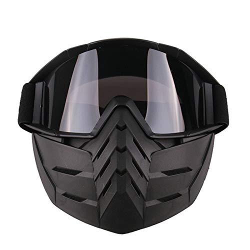 (EoCot Detachable Mask Snowboard Ski Goggles Winter Snow Ski Mask Ski Goggles Motocross Goggles Grey)