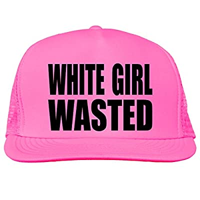 White Girl Wasted Bright neon truckers mesh snap back hat in 6 Bright Colors