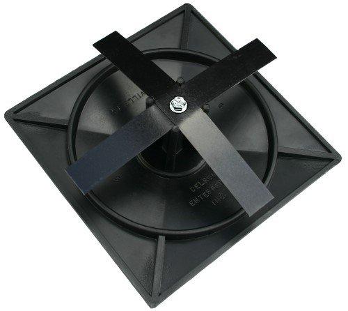 4'' Square Light Pole Top Cap- Black Plastic