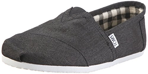Toms Mens Classic Canvas Slip On Casual Loafer Shoe, Earthwise Slate, US 10