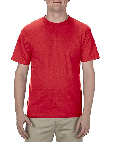 Alstyle Apparel AAA Men's Classic Cotton Short Sleeve T-shirt, Red, 2XL