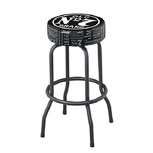 Jack Daniel's Repeat Swivel Bar Stool - Black