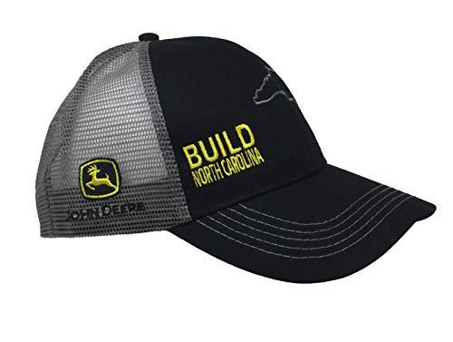 John Deere Build State Pride Cap-Black and Gray-North Carolina