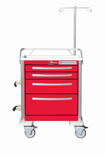Medline MPH01WMWO2 Aluminum Cart Emergency Accessory (Aluminum Emergency Cart)