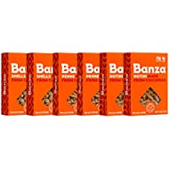 Banza Chickpea Pasta, Variety Pack (2 Penne/2 Rotini/2 Shells) - Gluten Free Healthy Pasta, High Protein, Lower Carb and Non-GMO - (Pack of 6)