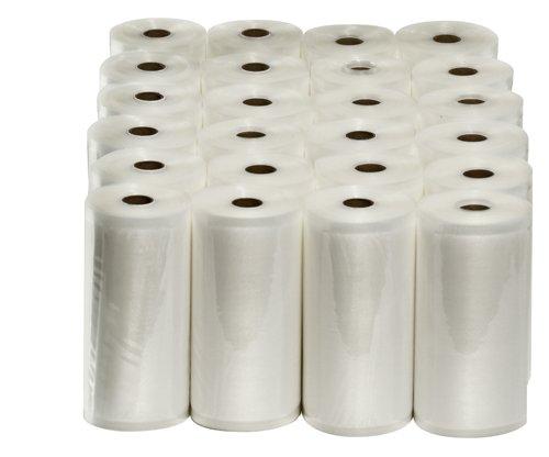 24 Large 8'' x 50' Vacuum Sealer Rolls Commercial Grade Food Saver Sealer Bags