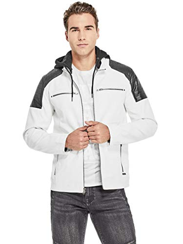 G by GUESS Men's McManus Color-Block Moto ()