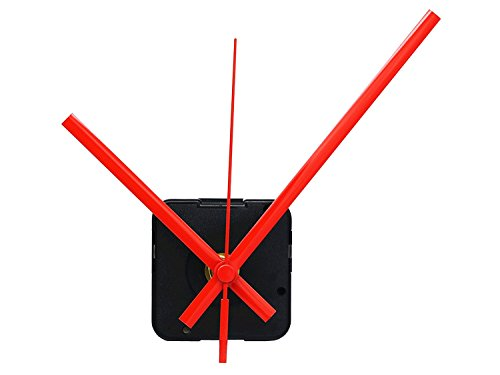 12888 Quartz DIY Wall Clock Movement Mechanism Repair Parts Replacement Kit Sweep Silent Movement,13mm (1/2 Inch ) Maximum Dial Thickness, 23mm (29/32 Inch ) Total Shaft Length.(Red Hand) (Clock Wall Parts Antique)