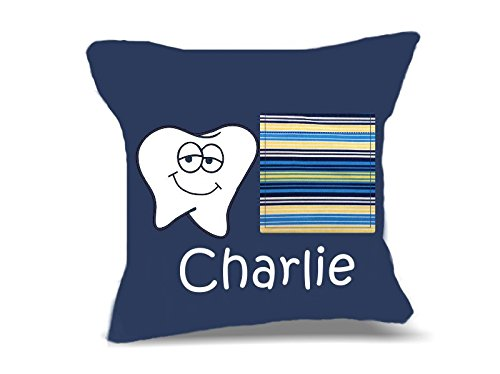 Personalized Tooth Fairy Pillow (Personalized Tooth Fairy Pillow for Boys (Blue with Stripes))