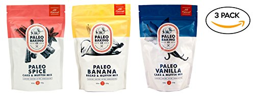 Price comparison product image Paleo Baking Company - 3 Pack Variety - Paleo Vanilla Cake & Muffin Mix, Paleo Spice Cake & Muffin Mix, Paleo Banana Bread & Muffin Mix