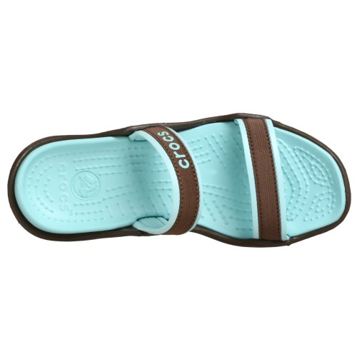 Crocs Ladies Slip On Sandals Patra Chocolate / Sea Foam UqVeO