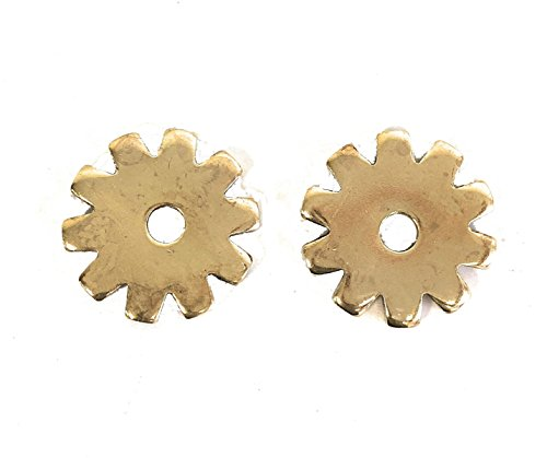 Western Spur Brass Rowels 1 1/16 Inch Sold In Pair 10 (Point Spur Rowels)