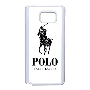 Polo Ralph Lauren Logo 2 funda Samsung Galaxy caja del teléfono Nota 5 de la célula funda A5I5JWXDLY blanco